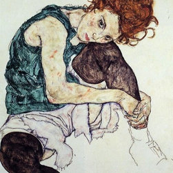 """Art MegaMart - Egon Schiele Seated Woman with Bent Knee - 18"""" x 27"""" Premium Canvas Print - 18"""" x 27"""" Egon Schiele Seated Woman with Bent Knee premium canvas print reproduced to meet museum quality standards. Our museum quality canvas prints are produced using high-precision print technology for a more accurate reproduction printed on high quality canvas with fade-resistant, archival inks. Our progressive business model allows us to offer works of art to you at the best wholesale pricing, significantly less than art gallery prices, affordable to all. We present a comprehensive collection of exceptional canvas art reproductions by Egon Schiele."""