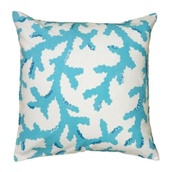 Rizzy Home - Rizzy Home Printed with Sequin Details Decorative Throw Pillow - PILT06249CQWH18 - Shop for Pillows from Hayneedle.com! Sequin detailed the coral design of the Rizzy Home Printed with Sequin Details Decorative Throw Pillow brings a nautical touch to your contemporary home. The removable cover of this throw pillow features a plush polyester insert hidden zipper and is made of 100% cotton.About Rizzy HomeRizwan Ansari and his brother Shamsu come from a family of rug artisans in India. Their design color and production skills have been passed from generation to generation. Known for meticulously crafted handmade wool rugs and quality textiles the Ansari family has built a flourishing home-fashion business from state-of-the-art facilities in India. In 2007 they established a rug-and-textiles distribution center in Calhoun Georgia. With more than 100 000 square feet of warehouse space the U.S. facility allows the company to further build on its reputation for excellence artistry and innovation. Their products include a wide selection of handmade and machine-made rugs as well as designer bed linens duvet sets quilts decorative pillows table linens and more. The family business prides itself on outstanding customer service a variety of price points and an array of designs and weaving techniques.