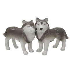WL - 3 Inch Kitchenware Utensil Wolves Figurines Salt and Pepper Shakers - This gorgeous 3 Inch Kitchenware Utensil Wolves Figurines Salt and Pepper Shakers has the finest details and highest quality you will find anywhere! 3 Inch Kitchenware Utensil Wolves Figurines Salt and Pepper Shakers is truly remarkable.