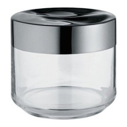 "Alessi - Alessi ""Julieta"" Kitchen Jar, Stainless Steel Mirror Polished, Small - Kitchen jar in glass with hermetic lid in 18/10 stainless steel"