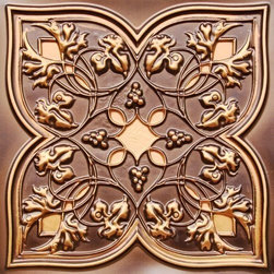 """Decorative Ceiling Tiles - Spring Vineyard - Faux Tin Ceiling Tile - 24""""x24"""" - #212 - Find copper, tin, aluminum and more styles of real metal ceiling tiles at affordable prices . We carry a huge selection and are always adding new style to our inventory."""
