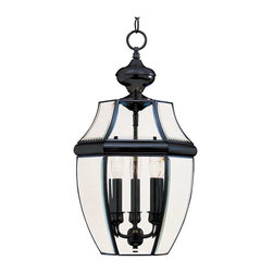 Maxim Lighting - Maxim South Park 3-Light Outdoor Hanging Lantern in Black - 6095CLBK - South Park is a traditional, early American style collection from Maxim Lighting Interior available in multiple finishes with Clear glass.