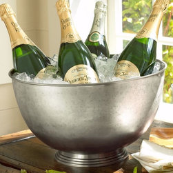 Antique Bar Party Bucket & Ice Bucket - At your next party, keep extra drinks in an ice bucket for guests to grab when they please so that you're not worried about refilling glasses all night.