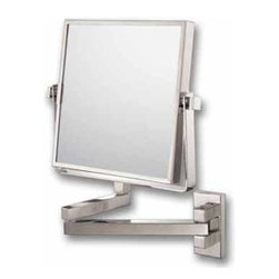 Kimball & Young Aptations Mirror Image 240 Series Square Double Arm Wall Mirror - Square Pivot Arm Wall Mirror