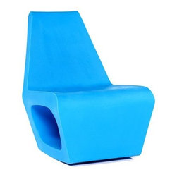 Quinze and Milan - Quinze and Milan Jellyfish House Chair, Light Blue - The JELLYFISH HOUSE collection is produced in sturdy rotation moulded PE which is extremely well suited for outdoor use. The same frame is used as the base for an upholstered edition in leather or fabric, therefore few of these chairs have the same outward appearance. The colours are UV stable.