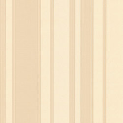 Creme & Beige Striped Wallpaper - Give your walls a traditional look with a modern flare with wallpaper from the Regent Collection by Brewster.