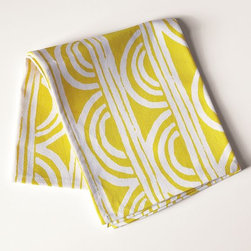 Sunshine Tea Towel - Bright sunshine for the home, even on the cloudiest of days. An explosion of lemony color and a batik aesthetic add some fun to the kitchen, especially when mixed and matched with the patterns of west elm's other tea towels.
