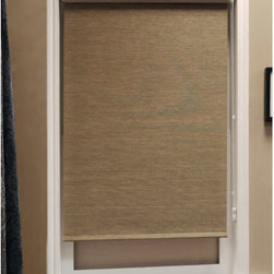 Chicology - Lattice Latte 27x72 Roller Shade - - Bottom panel weights to keep in place - Sewn-in  - Drapery Fabric - 66% Paper + 34% Polyester  - Finished Width x Length - 27x72 Chicology - PR066327