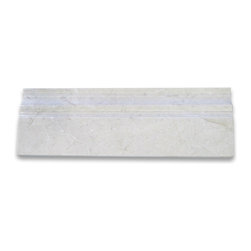 """Stone Center Corp - Crema Marfil Marble Baseboard Crown Molding 4x12 Polished - Crema Marfil Marble baseboard molding 4"""" width x 12"""" length x 3/4"""" thickness"""