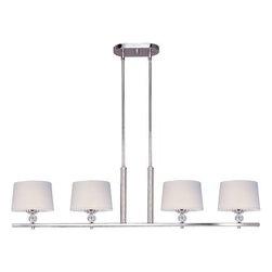 Maxim Lighting - Maxim Lighting 12759WTPN Rondo 4-Light Pendant In Polished Nickel - Features