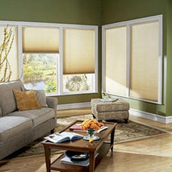 """Graber CrystalPleat 3/4"""" Single Cell Light Filtering - In inspiring new fabrics and exciting colors, Graber CrystalPleat® Cellular Shades offer three levels of opacity and three cell sizes. The unique cellular design forms pockets of air that insulate windows from heat and cold to make your home more comfortable year-round. Plus, they also absorb sound, controlling unwanted noise while letting in natural light. Graber CrystalPleat® 3/4"""" Single Cell Cellular Shades offer a clean appearance proportionally ideal for large windows and good insulation and sound absorption. The insulating cellular design prevents heat transference to help lower energy bills year-round. Coordinate with Slide-Vue™ Cellular Shades to add matching style to patio doors or wide windows. Select fabrics are now available up to 144"""" wide to accommodate your largest windows, and virtually all fabrics are now available cordless to reduce hazards in homes with children or pets."""