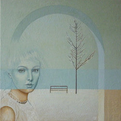 """Winter Rhapsody (Original) by Lana Wynne - This painting was inspired by a beautiful photograph of John Poon """"A whiter shade of pale"""", who gave his permission to use it for my interpretation."""