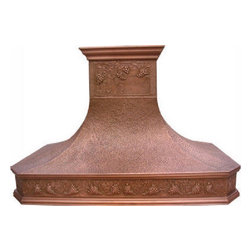 "myCustomMade - Copper Range Hood ""Laredo"", Honey, 30"", Wall Mount - French design makes this copper range hood a great addition to the kitchen. Customize the rustic copper hood by choosing natural fired, coffee, honey or antique finishing. ""Laredo"" style is produced as 30, 36 or 48 inches wide. Its depth is 22"", height 36"" and it takes about thirty days to deliver. Once purchased specify the hood 220000015 version as wall mount or kitchen island. Enjoy free delivery."