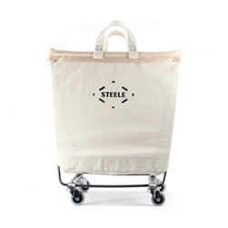 Steele Canvas Laundry Cart - When it comes to cleaning and laundry products, I say the simpler the better. Give me something sturdy that I know will last forever, preferably in a classic shape This laundry cart is just that — an industrial piece sure to perform for years to come.