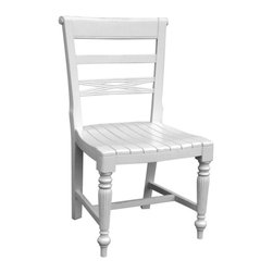 EuroLux Home - New Chair Gray Painted Hardwood Raffles - Product Details