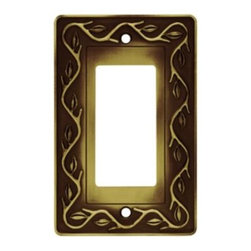 Liberty Hardware - Liberty Hardware 64187 Leaf and Vine WP Collection 3.15 Inch Switch Plate - A simple change can make a huge impact on the look and feel of any room. Change out your old wall plates and give any room a brand new feel. Experience the look of a quality Liberty Hardware wall plate. Width - 3.15 Inch, Height - 4.9 Inch, Projection - 0.3 Inch, Finish - Tumbled Antique Brass, Weight - 0.3 Lbs.