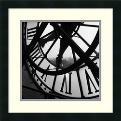 Amanti Art - Orsay Clock Framed Print by Tom Artin - This up close and personal look at the Orsay clock in Paris inspires reverence not only for architecture but for contemplation of time itself. Let yourself get lost in this quietly beautiful and meditative print.