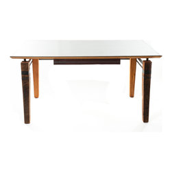 Walsworth Furnishings - Price Desk - Unique Steel Top Desk by Walsworth Furnishings