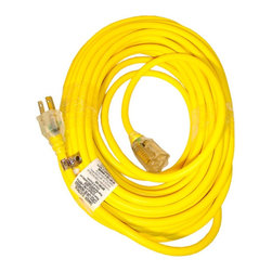 Snow Joe - 50 Feet Outdoor Extension Cord - Snow Joe 50-Foot SJEOW indoor/outdoor extension cord. Made to withstand extreme temperatures from -76F to 221F. Power Joe indicator plug glows when the cord has power. 3-Conductor, 14-gauge wire, 15 AMP rating. Fluorescent yellow color for superior visibility.