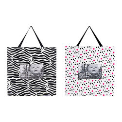 Trend Lab - Trend Lab Zahara Crib Bedding Set - Frame Set - Display your favorite memories with this Zahara Frame Set by Trend Lab. One frame features a black and white zebra print. The second frame features a black and paradise pink confetti dot print on a white background. Each frame measures 11 x 11 and holds a 4 x 6 photo. Frames come with black satin ribbon and keyhole on the back for hanging.