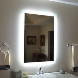 Wall Mounted Lighted Vanity Mirror - 5 YEAR Warranty - LED Lighting, will last a lifetime, Green Product - 1/2 cent per hour to burn, Perfect Lighting for Make Up and Hair