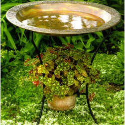 Ancient Graffiti - Ancient Graffiti Copper Plated Steel Bird Bath - ANCIENT955 - Shop for Garden Bird Baths from Hayneedle.com! About Ancient GraffitiKnown for their nature-inspired gifts for the home and garden Ancient Graffiti takes pride in partnering with artists. They also are aware of the environment and make green choices in their innovative product design. Their artisan partners use and promote sustainable organic natural resources. The result is not only beautiful but smart products perfect for your home indoors and out.
