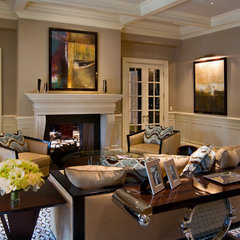 living room by Martin Perri Interiors, Inc.