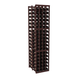 """Wine Racks America - 4 Column Double Deep Cellar in Redwood, Walnut - Stores 12 cases of wine using less than 18"""" of wall space. The high capacity double deep wine rack is a great starting point and addition to any wine cellar. Engineered for strength and designed for beauty; you'll cherish these racking systems for a long time. These features are guaranteed."""
