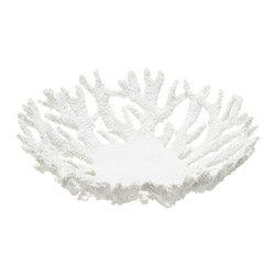 White Coral Soap Dish-Small Bowl - White Coral Soap Dish-Small Bowl available at www.GentleBath.com