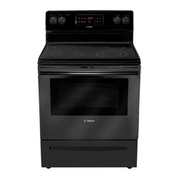 "Bosch 300 Series 30"" Electric Freestanding Range, Black 