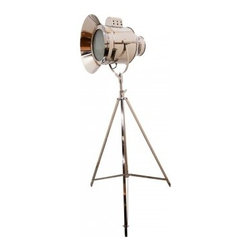 Chrome Cinema Floor Lamp Chrome Margaux Maison 33w X
