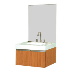 Decolav - Decolav Eastridge Wall Vanity w/ Countertop - Vanity with countertop