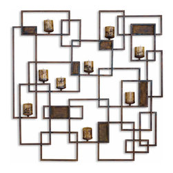 Uttermost 20850 Siam Rust Brown Candleholder - Uttermost 20850 Siam Rust Brown Candleholder*Collection: Siam*Designed by Billy Moon*Weight: 18