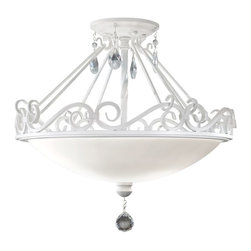 Murray Feiss - Murray Feiss Chateau Blanc Traditional Semi Flush Mount Ceiling Light X-WGS091FS - Murray Feiss Chateau Blanc Traditional Semi Flush Mount Ceiling Light X-WGS091FS
