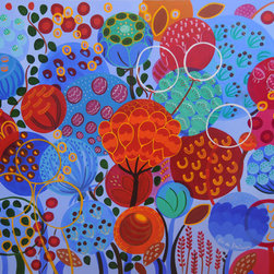 Big Blue Seeds, 48 x 60 in -