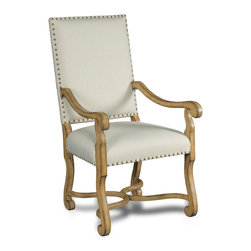 Hooker Furniture - Decorator Chair - Dining Arm Chair 80 - White glove, in-home delivery included!  Fabric: Bayeux Linen  Finish: Sorella  Side chair is in a set of two chairs.  Arm chair sold individually.