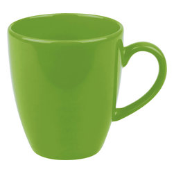 Waechtersbach - Set of 4 Jumbo Cafelatte Cups Fun Factory Green Apple - Make mornings lively with these Fun Factory Green Apple Jumbo Cafelatte Cups. Available in a variety of bold hues, these tall mugs are a must-have for every tea or coffee lover.