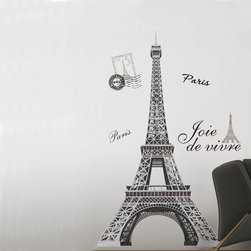 RR - Eiffel Tower Peel & Stick Wall Decal - Eiffel Tower Giant Peel & Stick Appliqué