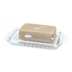 Gedy - Transparent Free Standing Soap Dish, Transparent - A quality complimentary piece, this soap dish and holder will also help always have soap handy. Contemporary in design, this this soap dish is made in transparent glass and finished in transparent. Manufactured in and imported from Italy by Gedy.