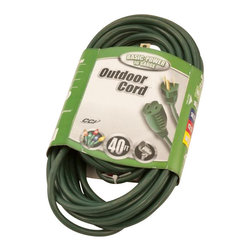 Seasonal Source - 40' Medium Duty Extension Cord - Perfect for your holiday lighting project, Seasonal Source extension cords are made with 16 gauge wire and are heavily insulated.