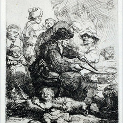 "Rembrandt Van Rijn The Pancake Woman - 18"" x 24"" Premium Archival Print - 18"" x 24"" Rembrandt Van Rijn The Pancake Woman premium archival print reproduced to meet museum quality standards. Our museum quality archival prints are produced using high-precision print technology for a more accurate reproduction printed on high quality, heavyweight matte presentation paper with fade-resistant, archival inks. Our progressive business model allows us to offer works of art to you at the best wholesale pricing, significantly less than art gallery prices, affordable to all. This line of artwork is produced with extra white border space (if you choose to have it framed, for your framer to work with to frame properly or utilize a larger mat and/or frame).  We present a comprehensive collection of exceptional art reproductions byRembrandt Van Rijn."