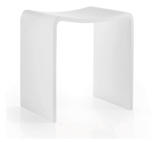 WS Bath Collections - Scagni 54703 - Scagni by WS Bath Collections Stool in White Matstone