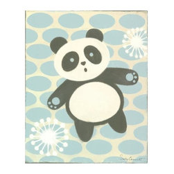 GreenBox Art + Culture - GreenBox Art + Culture Oopsy daisy Tai Chan Panda by Sally Bennett - Oopsy daisy Tai Chan Panda Stretched Canvas Wall Art by Sally Bennett, 16 by 20-InchesWipes clean with damp clothGiclee on canvasSawtooth makes it easy to hangMade in the United StatesNo framing requiredDimensions(L x W x H):16  inches x 0.62  inches x 20  inches Weight:2.54  pounds