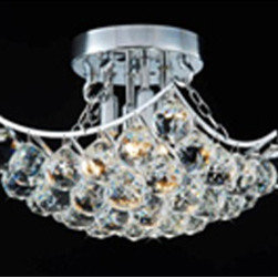 WAREHOUSE OF TIFFANY - Christina Crystal-Chrome Hanging - • Christina Crystal-Chrome Hanging