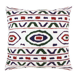 """DD - Aventura Outdoor Pillow 20"""" x 20"""" - This lovely Aventura Outdoor Pillow will add fun and flare to your outdoor space."""