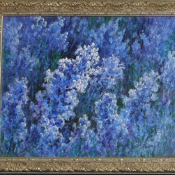 Blue Flowers, Present, Paintings Signed Oils, Flower Field - Three Separate paintings or buy the lot !