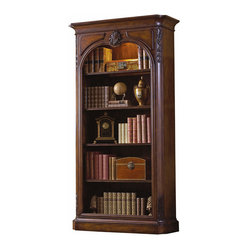 Ambella Home - Olivier Bookcase - Get ready to let your books and collectibles really shine in this decorative case. Each glass shelf is framed in wood, while your treasures are illuminated by a touch dimmer. It's the ideal complement to your den or office.