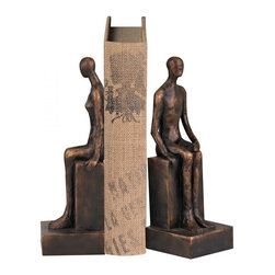 Sterling Industries - Male And Female Form Bookends - MALE AND FEMALE FORM BOOKENDS
