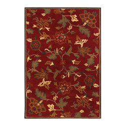 Couristan - Botanique Morgan Rug 1180/0034 - 2' x 4' - Bold floral motifs can be mixed with other patterns, like stripes and even polka dots, to create an inviting, cozy-casual look. When using an area rug that acts as a central focal point, incorporate these other complimentary patterns on a smaller scale, like with pillow fabrics or as a subtle accent in draperies.