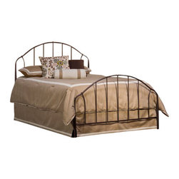 Hillsdale Furniture - Hillsdale Marston Metal Bed in Bronze - King - Simple form and function mark Hillsdale's easygoing Marston Bed. Constructed of durable metal with a bronze finish, the Marston is an ideal complement to even the most eclectic of styles.